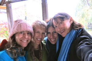 Lorraine Faehndrich, Pamela Moss, Daphne Cohn, Natalie Hill at Ecovillage at Ithaca