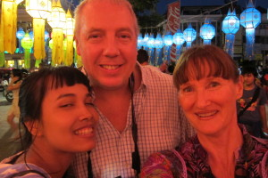 With my TEFL teacher, Stephen, with his Thai girlfriend, Pun.