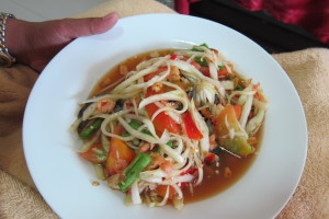 Papaya Salad with Salted Crab